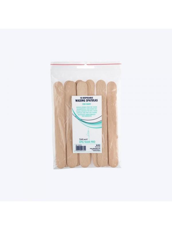 Sachet de 10 spatules en bois épilation 15cm - Sibel SibelÉpilation