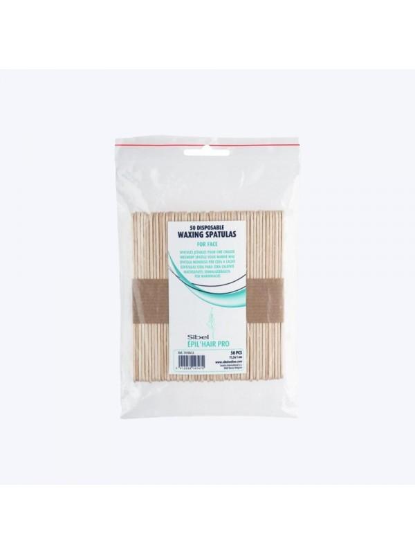 Sachet de 50 spatules en bois épilation visage 11cm - Sibel SibelÉpilation